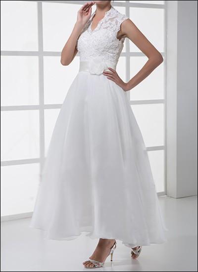Spitzen-Brautkleid Standesamt 50er Jahre WD130
