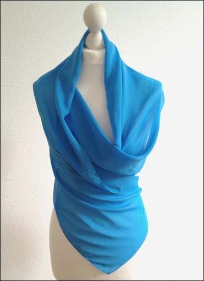 Blaue Chiffonstola STO340