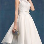 60er Jahre Vintage Brautkleid mit Spitze-0