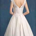 60er Jahre Vintage Brautkleid mit Spitze-776