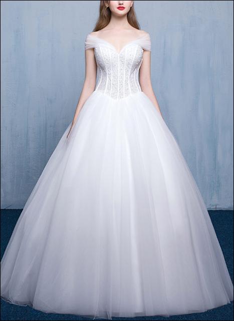 Prinzessin Brautkleid mit Korsage WD700