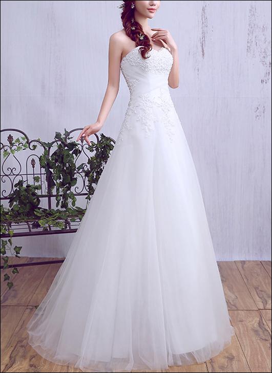 A-Linie Brautkleid mit Raffung und Spitze-0
