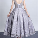 Graues Cocktailkleid CD700
