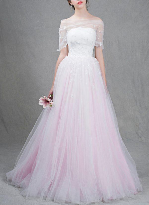 Farbiges Brautkleid WD370