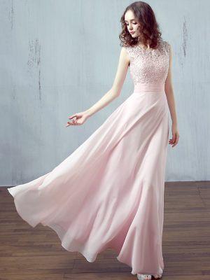 Traumhaftes Kleid aus leichtem Chiffon mit Spitzenoberteil für Brautjungfern