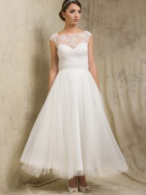 Knöchellanges Brautkleid