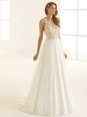Zartes zweifarbiges Brautkleid