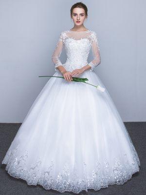Prinzessin Brautkleid mit langen Ärmeln
