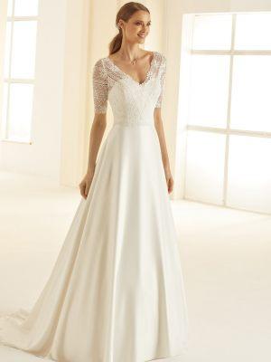 A-Linie Brautkleid mit Ärmeln
