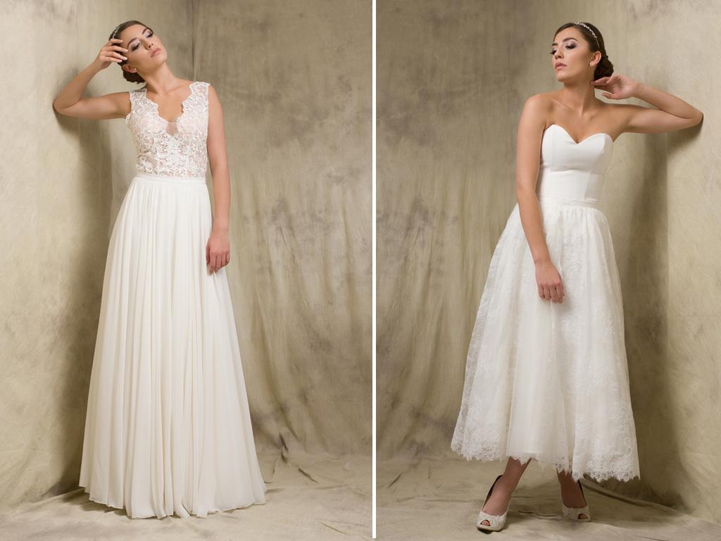 Rock & Oberteil – Zweiteilige Brautkleider