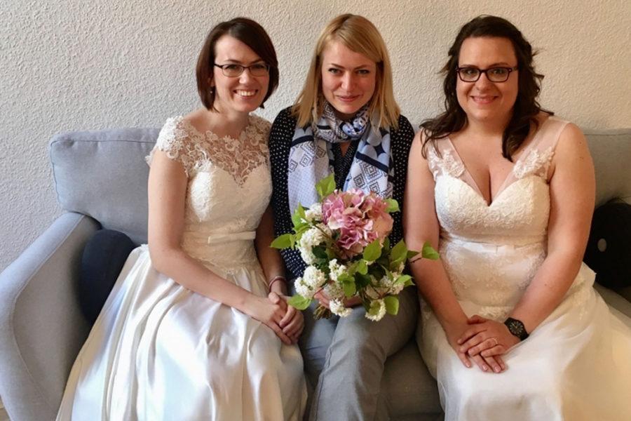 Heute haben Maike und Anne geheiratet!