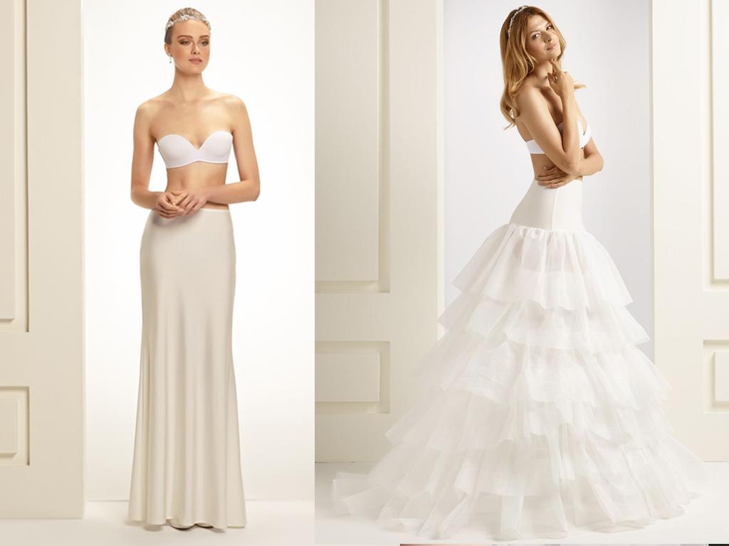 Der Reifrock für das Brautkleid