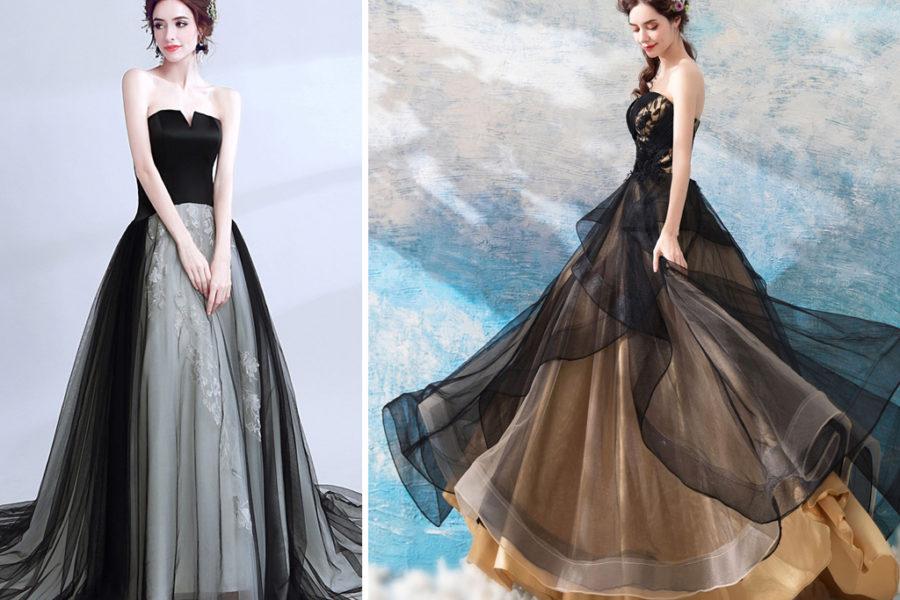 Schwarze Brautkleider sind wieder im Rennen