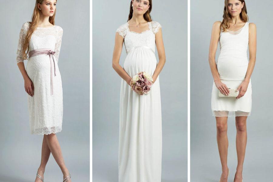 Brautkleider für Babybauch