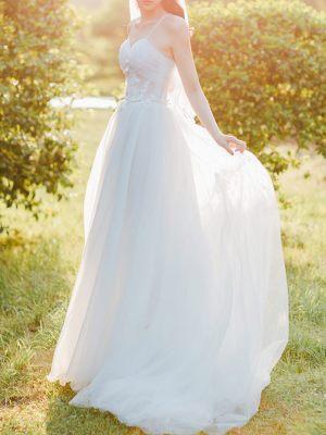 Brautkleid im A-Linie Schnitt