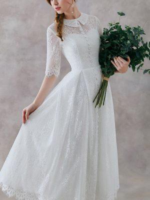 Brautkleid mit Kragen