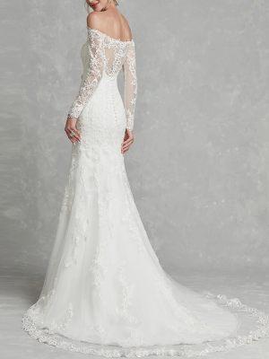 Brautkleid mit langen Ärmeln