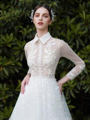 Design Brautkleid mit langen Ärmeln