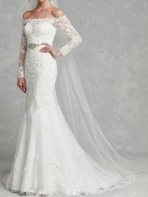 Mermaid Brautkleid mit langen Ärmeln