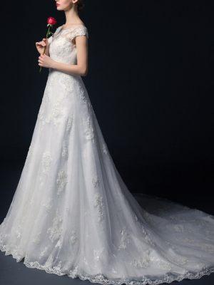 A-Linie Brautkleid mit Ärmelchen