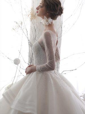 Design Brautkleid mit Ärmeln