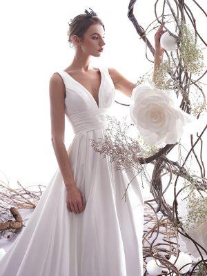Elegantes Satin Brautkleid