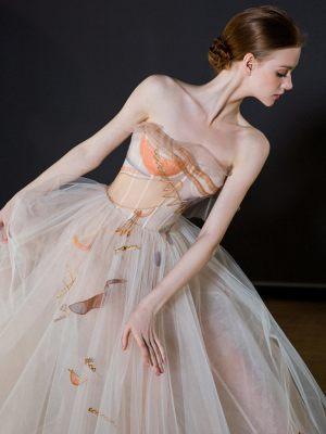 Designer Brautkleid mit Prints
