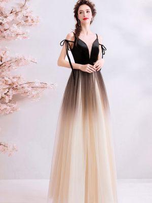 Brautkleid mit Schwarz-goldenem Farbverlauf
