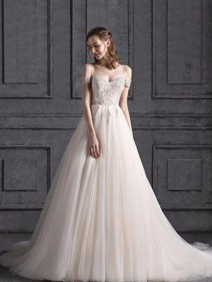Prinzessin Brautkleid mit Trägern