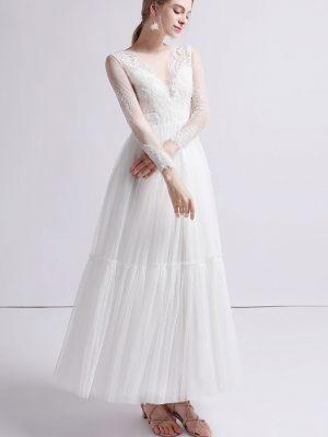 Vintage Brautkleid mit Ärmeln