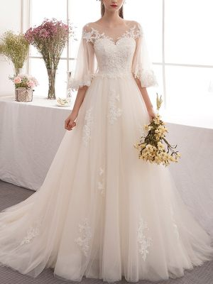 Princess Brautkleid mit Ärmeln