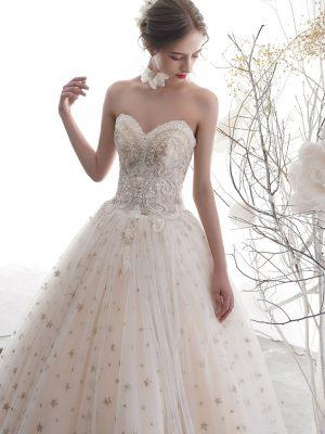 Brautkleid mit Sternenprint