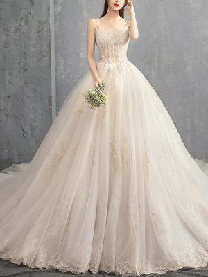 Prinzessinnen Brautkleid mit sichtbarer Korsage