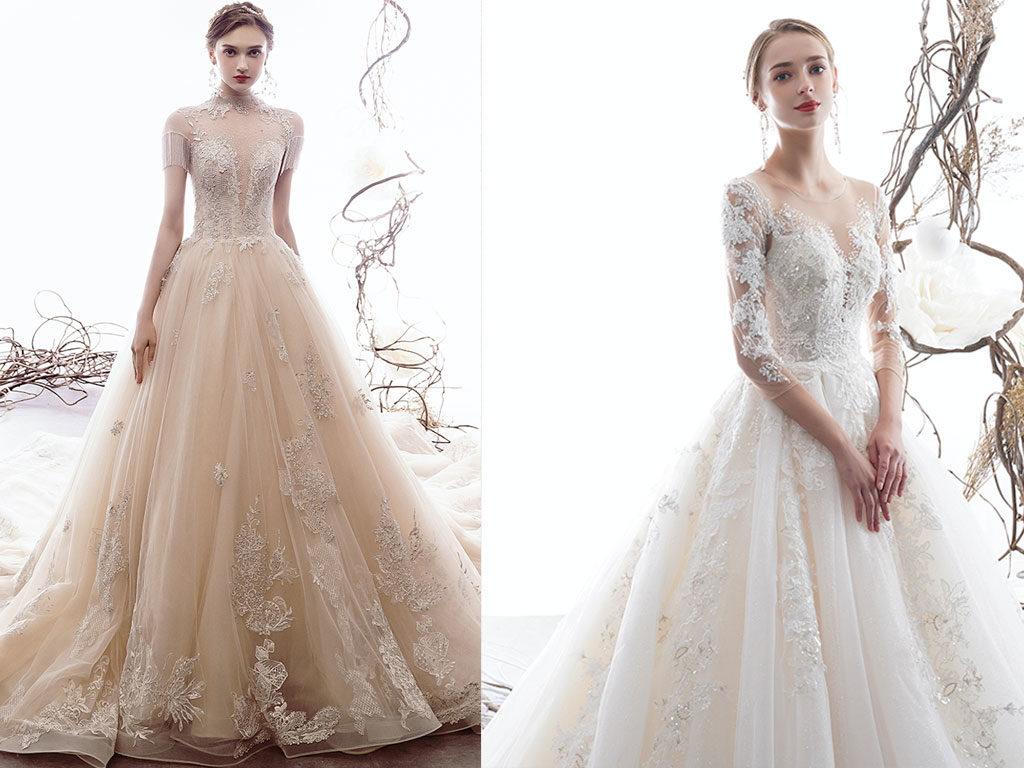 Prinzessinnen Brautkleid 02