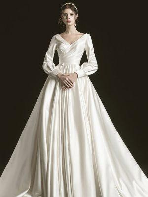 Satin Prinzessin Brautkleid