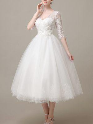 Kurzes-Brautkleid