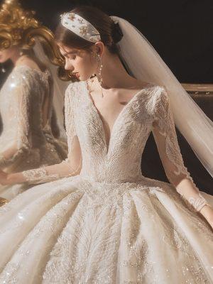 Brautkleid-mit-aermeln