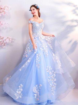 Blaues-Brautkleid