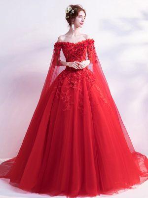 Rotes-Brautkleid